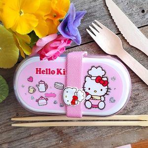 RARE Hello Kitty Bento Box kit set